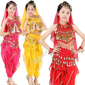 843c82dfe759 Girls Egyptian Belly Dancing Costume Child Indian Dance Carnival ...