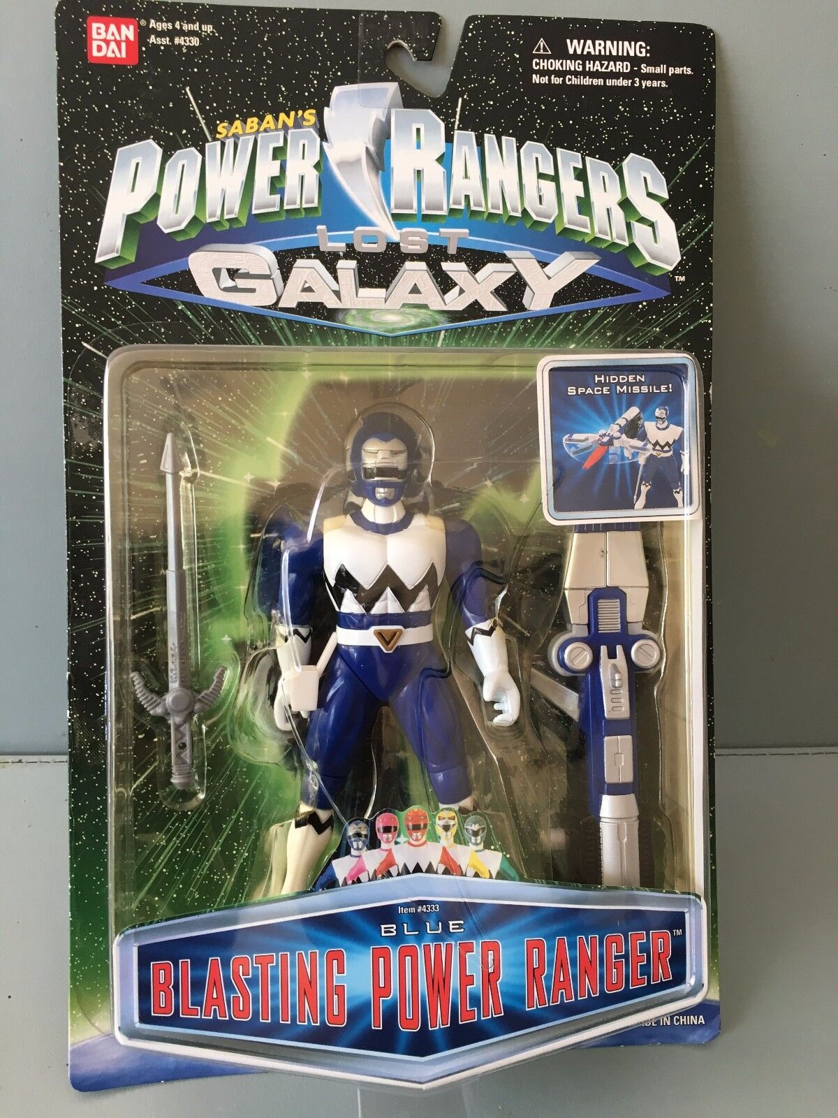 Power Rangers Lost Galaxy Blau ranger blasting power toy  new in sealed blister