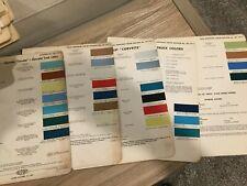 1958 Chevroletcorvette Truck Paint Chips Chart Original