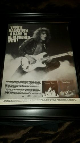 Yngwie Malmsteen Marching Out Rare Original Promo Poster Ad Framed!