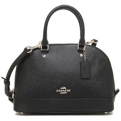 Coach * Mini Sierra Crossbody Satchel Crossgrain Leather Black COD PayPal