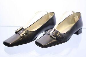 Barial-Schuhe-Slipper-schwarz-Leder-Gr-36-UK-3-5