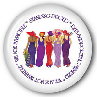(c) 6 Stand Proud Red Hat 3 Buttons Gift Favor For Ladies Of Society