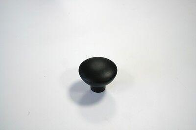 Hochwertiger Möbelknopf aus Metall in schwarz DM=33 mm 2204