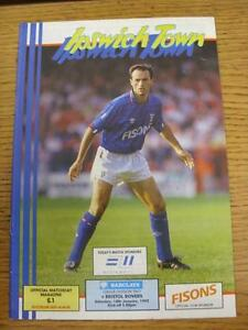 18-01-1992-Ipswich-Town-v-Bristol-Rovers-No-Apparent-Faults