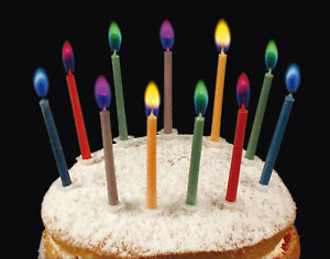 Image Is Loading Happy Birthday Magic Angel Flames Letters Cake Candles