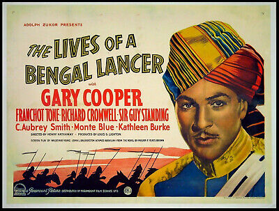 The lives of a Bengal Lancer Gary Cooper movie poster