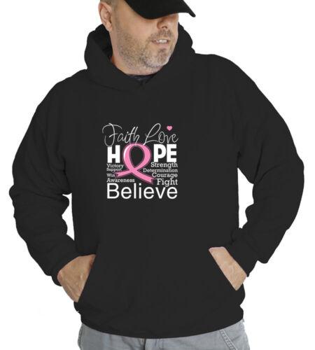 Breast Cancer Awareness Faith Love Hope Hoodie Sweatshirt FL 2937