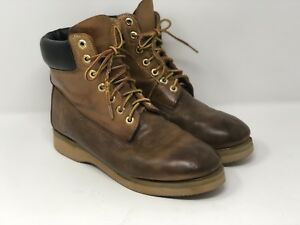 Details about Timberland Mens Vintage 80's 90's Ankle Leather Work Boots Brogans USA Size 8.5