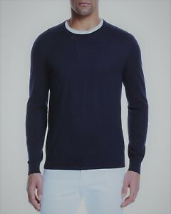 The-Men-039-s-Store-at-Bloomingdale-039-s-Merino-Crewneck-Sweater-Size-L-Navy-88