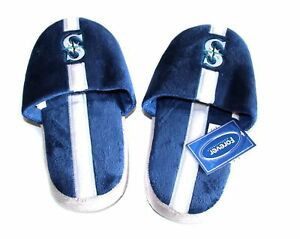MLB-Seattle-Mariners-Plush-Team-Slippers-Assorted-Sizes