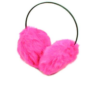 Pink Earmuffs Soft feel faux fur Winter Warmer ear muffs Xmas Christmas Present