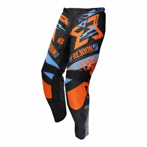 PANTALON-CROSS-SHOT-FREEGUN-TROPPER-NEON-ORANGE-TAILLE-34-US-44-EU
