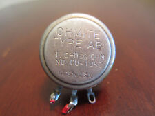 Ohmite Type AB CU 1052 0 Meg Ohm Potentiometer