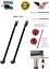 OMG!!Pack 2 Black 2-in-1 Door Security Bar /& Sliding Patio Lock Guard Adjustable