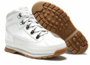 f58c267cd4b Details about TIMBERLAND JUNIOR'S/womens EURO HIKER SHELL TOE BOOTS A1Q16  WHITE