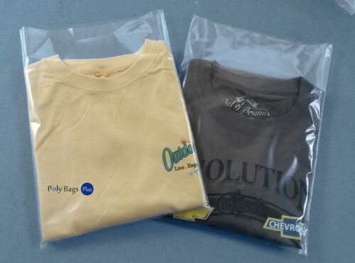 """T-Shirt Bags 100 ct Clear Plastic 10x12/"""" 1Mil Poly LDPE Open Top Baggie"""