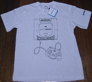 df0fe716b28d Image is loading OFFICIAL-LICENCED-Sega-Saturn-White-Adult-T-shirt-