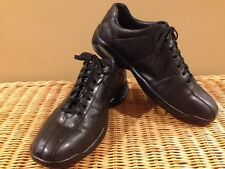 COLE HAAN Men's 8M Nike Air Lace Up Bicycle Toe Black Leather Casual Shoes EUC
