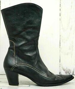 Paul cowboy Zu Green Details Schuhe 5Damen Leder Schwarz Stiefel Shoes Gr38 55 � 35Aqj4cLR