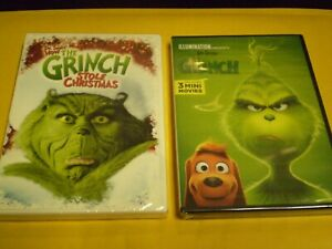 2 Dr Seuss How The Grinch Stole Christmas Dvd Lot Jim Carrey 2018 New Ebay