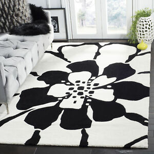 Details About Black White Safavieh Soho Wool Area Rug Soh730a