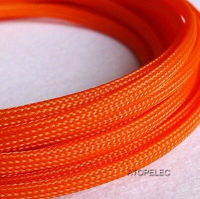 """6MM 1/4"""" TIGHT Braided PET Expandable Sleeving Cable Wire Sheath 2M/5M/10M"""
