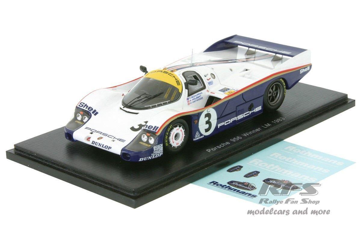 PORSCHE 956-Holbert Haywood Schuppan - 24 H LE MANS 1983 - 1 43 Spark 43lm83
