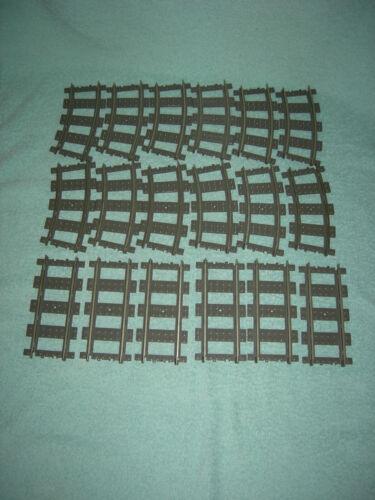 !!! Lego Eisenbahn 9V//RC  Schienen 4515 6 Geraden #4520 und 12 Kurven