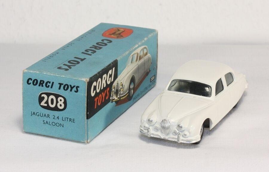 Corgi Toys 208, Jaguar 2.4 2.4 2.4 litre Saloon, Mint in Box               ab1201  | Outlet Online  87e9d3