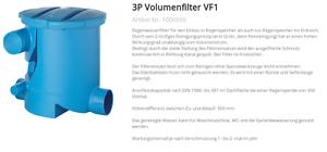 Vente Pas Cher 3p Volume Filtre Vf1 Pour Erdeinbau Avant La Citerne-afficher Le Titre D'origine