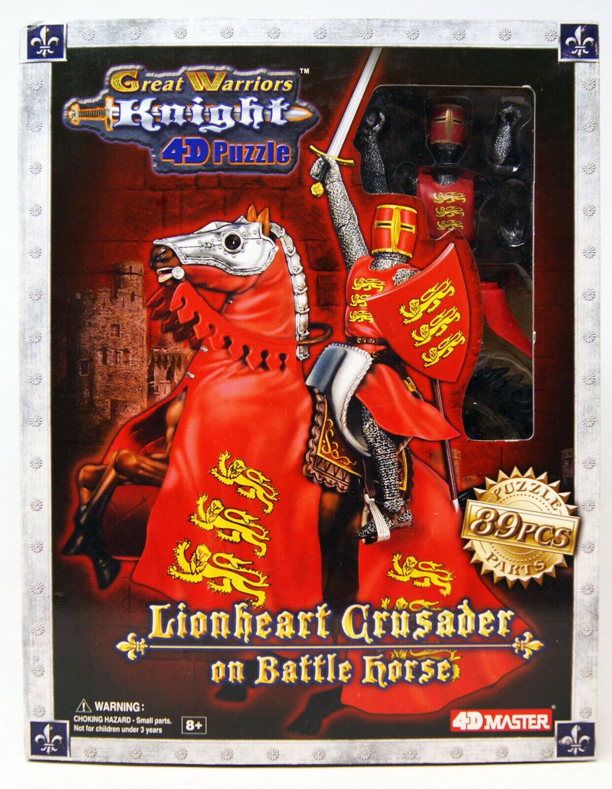 Fame Master Ent. - 4D Master - Lionheart Crusader on Battle Horce - 4D Puzzle