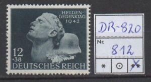 Deutsches-Reich-Michel-Nr-812-Heldengedenktag-tadellos-postfrisch