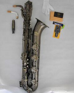 Details about Professional Taishan Antique Eb Baritone Sax Saxophone 2neck+  Germany mouthpiece