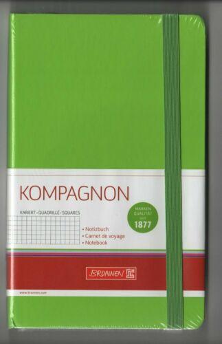 ca 125 x 197 mm NOTIZBUCH kariert Original-Brunnen KOMPAGNON grün