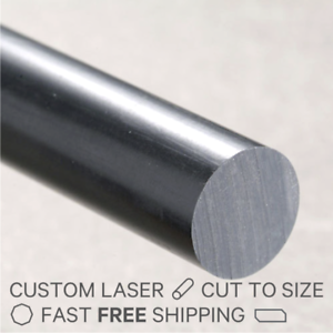 Black Opaque Acetal Rod Copolymer Dia.6mm x 295mm long FAST N FREE POSTAGE