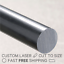 Black Opaque Acetal Rod Copolymer Dia.40mm x 295mm long FAST N FREE POSTAGE