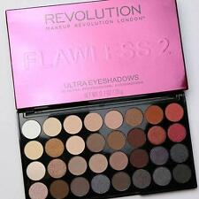 MAKEUP REVOLUTION FLAWLESS 2 EYESHADOW PALETTE Ultra 32 COLOURS Matte & Metallic