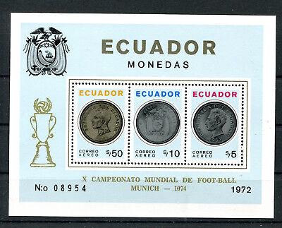 Briefmarken Frank Ecuador Block 65 A Postfrisch Fussball .................................2/2263
