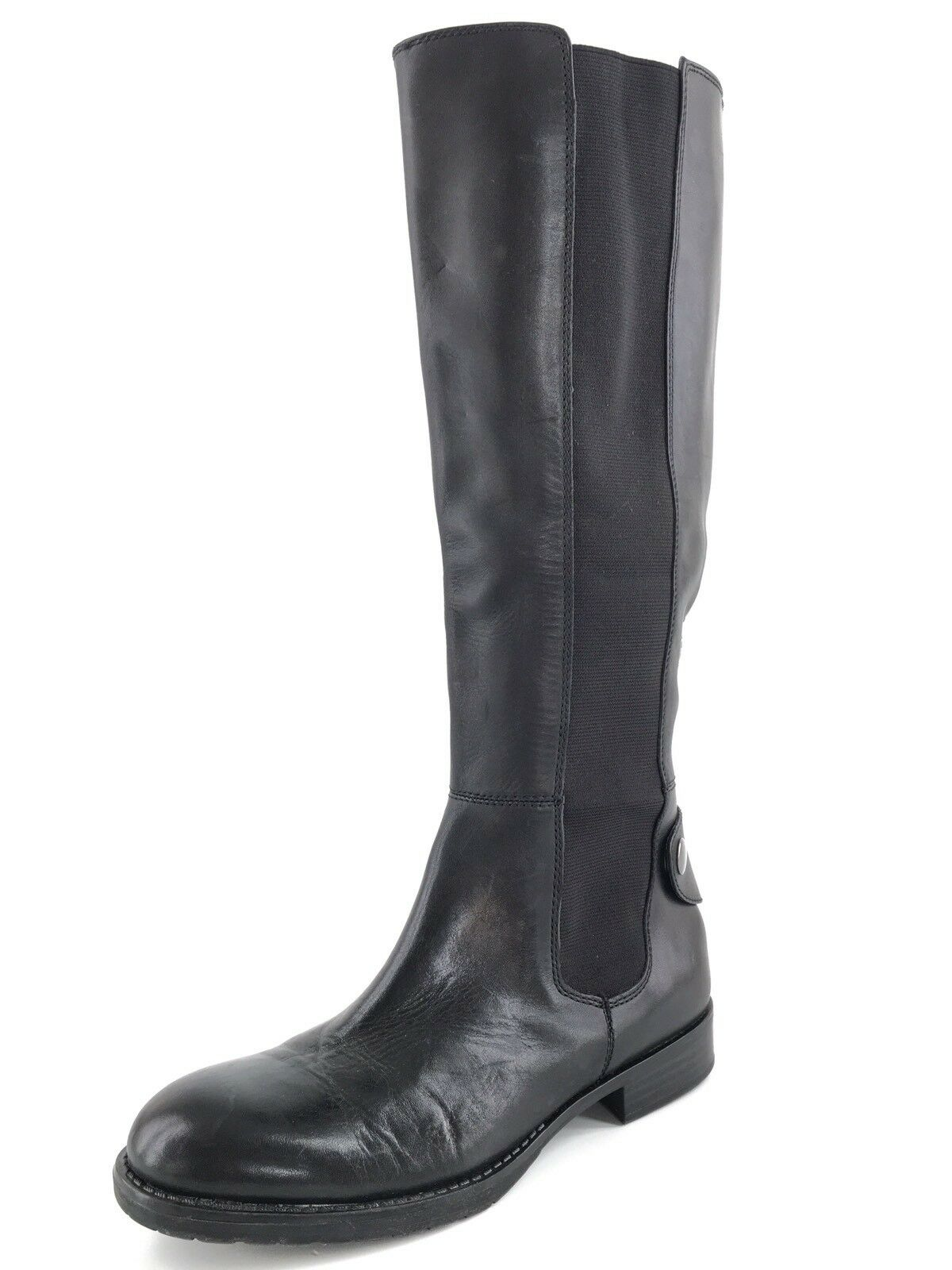 Franco Sarto Tahini Black Leather Women's Fashion Knee-High Boots Size 6 M*
