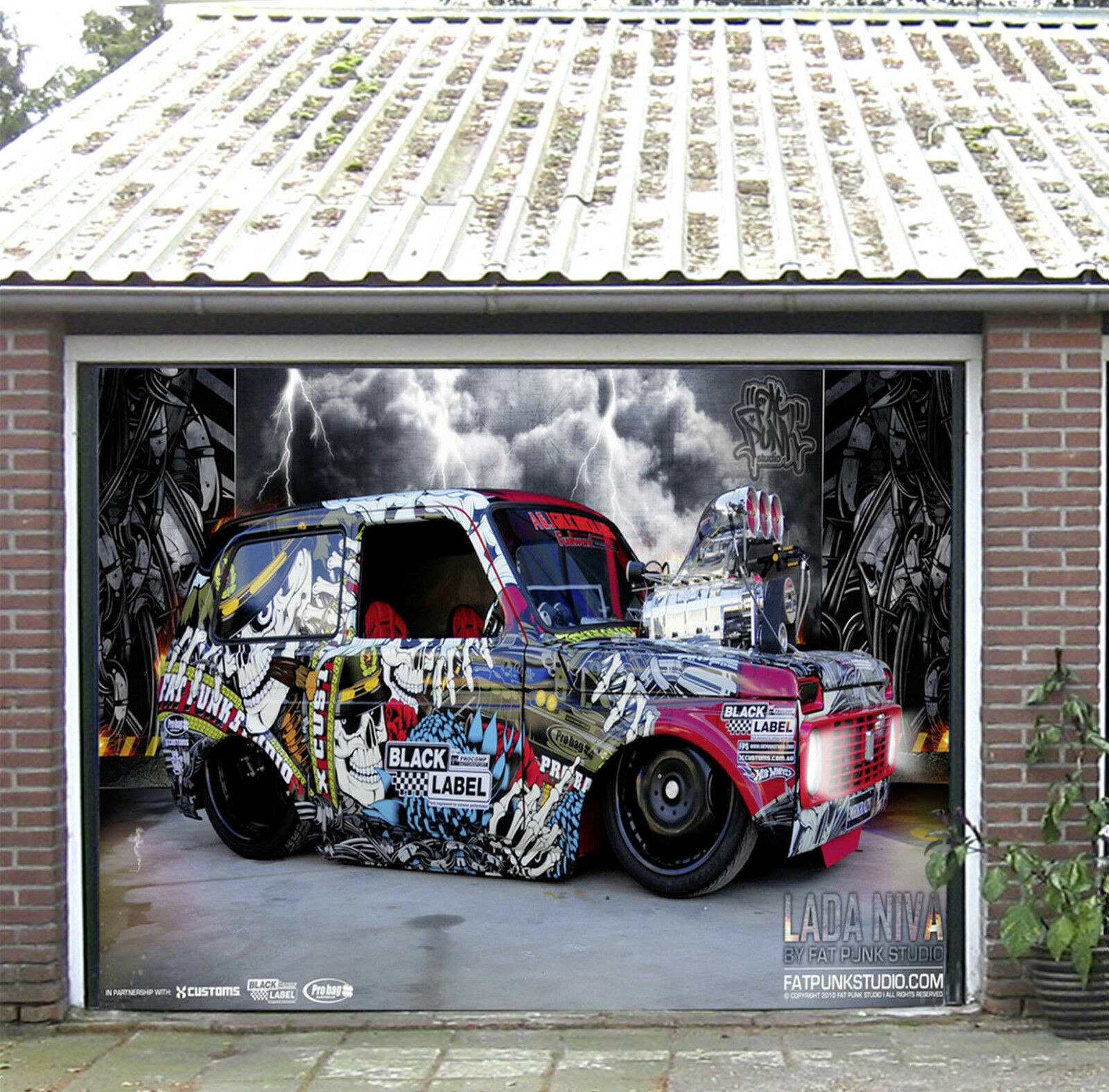 3D Graffiti On Car Garage Door Murals Wall Print Decal Wall Deco AJ WALLPAPER IE