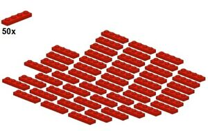Used-LEGO-Plates-Red-3710-01-1x4-50Stk-Platte-Rot