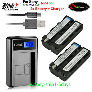 2X-Battery-Charger-for-Sony-NP-F330-NP-F550-NP-F570-F530-NP-F750-NP-F970-AU-ship
