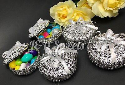 12-Wedding Fillable Trinket Candy Boxes Favors Gift Quinceñera Recuerdos Boda
