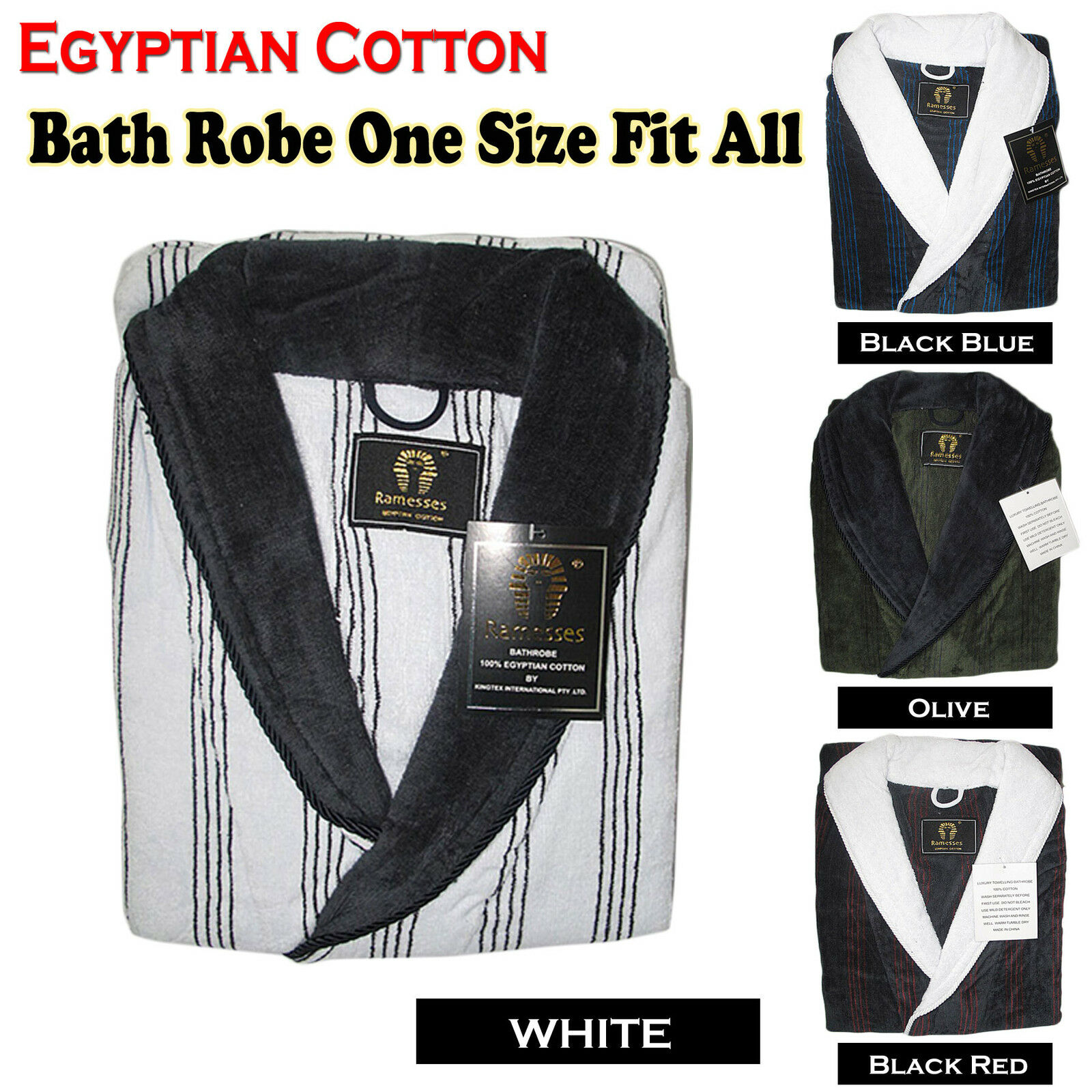 EGYPTIAN COTTON Women Men One Size Fit Most Bath Robe   Dressing Gown