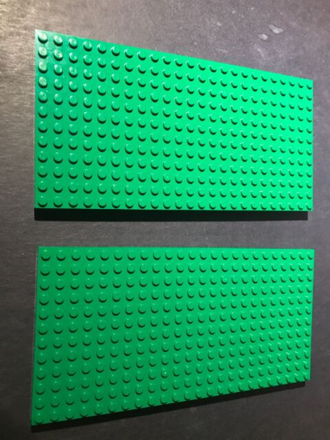 LEGO LOT OF 10 NEW 6 X 16 DOT LIME GREEN PLATES PIECES