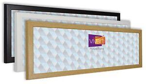 Vivarti-Thin-Panoramic-Picture-Photo-Frame-Black-White-Oak-Gold-Silver-Mahogany