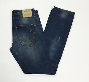 Replay-1659-sirio-jeans-uomo-usato-slim-W30-L34-tg-44-destroyed-boyfriend-T3498