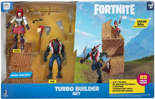 Jazwares 100/% UFFICIALE-fortnite Series 3 Turbo BUILDER 2 Pack FIGURE-NUOVA