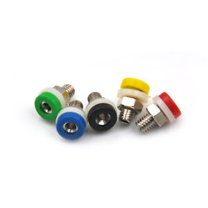 10x 2mm Brass Banana Socket Jack RTR Audio Cables Plug Connector RT